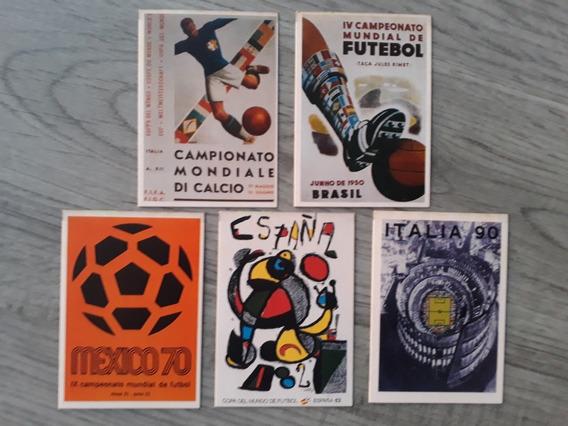 Cards Copa Do Mundo- Revista Placar. Kit Com 5 (foto)