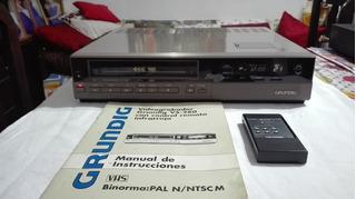 Vídeo Grabador Grundig Vs - 280 C/ Control Remoto 4head Vhs