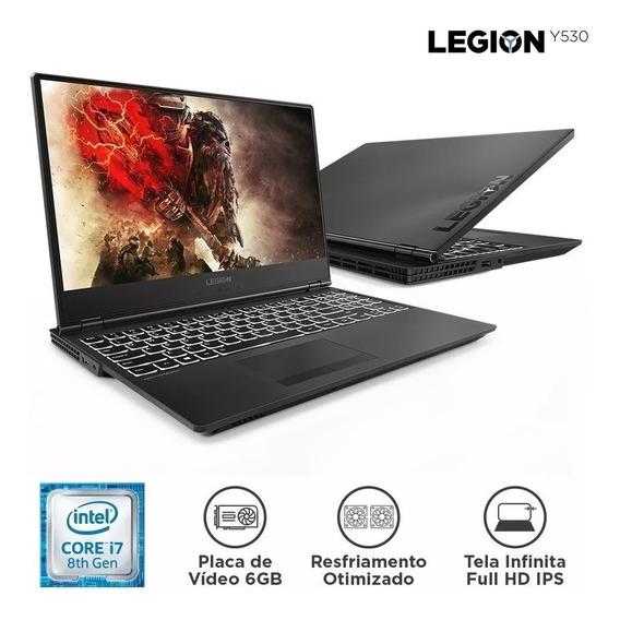 Notebook Lenovo Gamer Legion Y530 I7-8750h 16gb 1tb 128 Ssd+