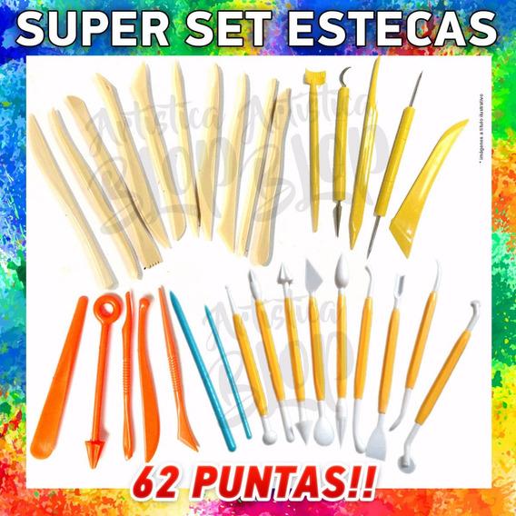 Set 31 Estecas Doble Punta Porcelana Fria Figuras Reposteria