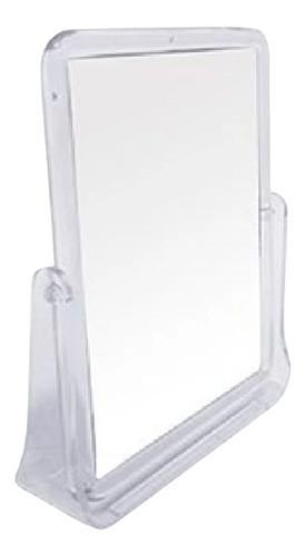 Espelho Duplo Com Pedestal Em Acrílico P/ Maquiagem