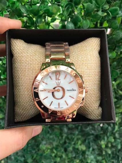 Reloj Tipo Pandora Dorado