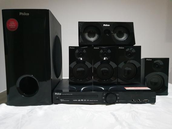 Home Theater Dvd Player 420w Rms 5.1 Hdmi Com Karaoke Philco