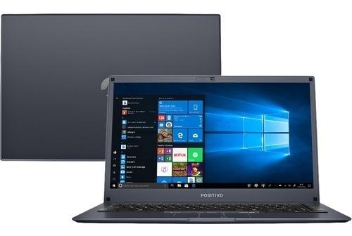 Notebook Intel Atom 4gb 32gb Ssd + 64gb Nuvem 14 W10 Azul