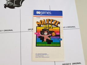 Squeeze Box Atari 2600 Manual Original Reis Do Atari
