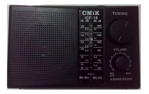 Radio Am Fm Som De Qualidade Tecsun Cmik Cmik Icf-18