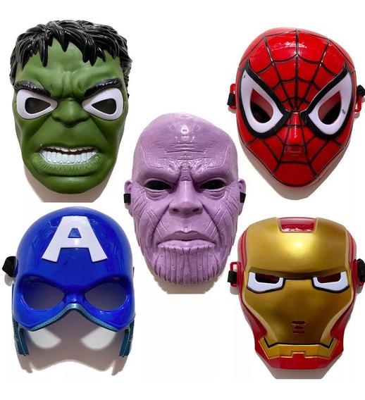Mascara Con Luz Avengers Thanos Hulk Spiderman Capi America