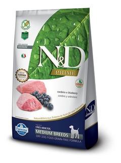 Ração N & D Prime Medium Cães Cordeiro E Blueberry 10kg Pett