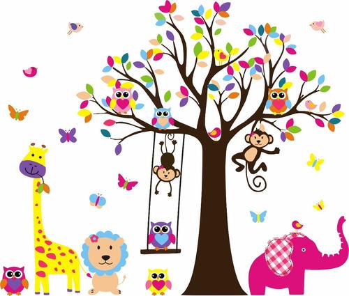 Imagen 1 de 6 de Vinilos Decorativos/ Selvas Infantiles Ramas Jungla Safari