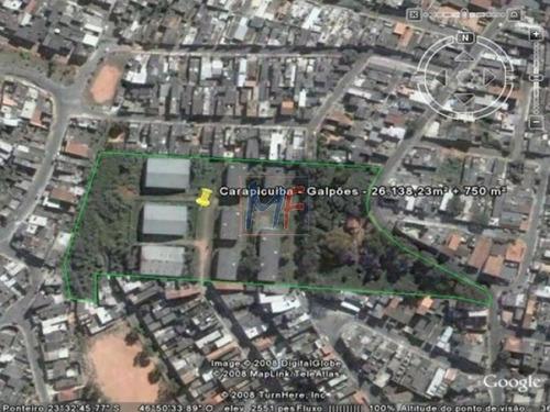 Imagem 1 de 1 de Ref 7914 - Terreno Com 23.707 M² Em Carapicuíba . .estuda Propostas E Permutas! - 7914