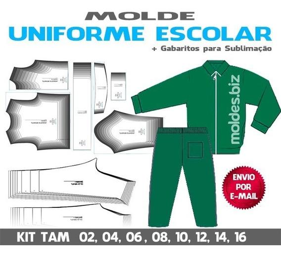 Molde Uniforme Escolar - Jaqueta E Calça (envio Por E-mail)