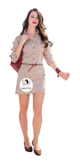 Vestido Midi Moda Coreana Tipo Gabardina Exped Sexy Mod.r212