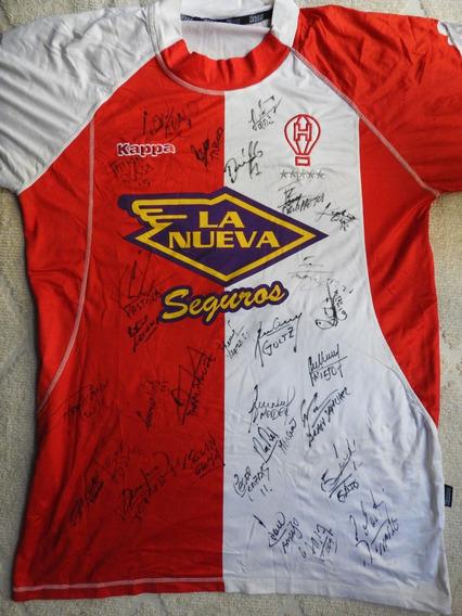 Camiseta Club Atlético Huracán 07-08 Firmada