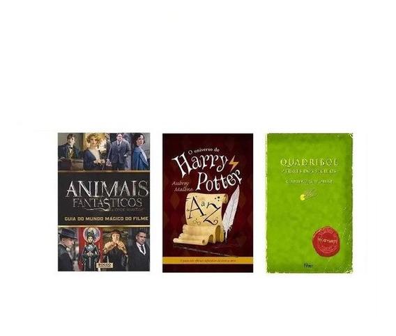 Kit Harry Potter Animais Fantásticos Quadribol Az - 3 Livros
