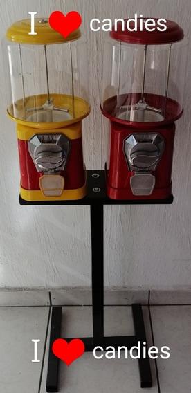 Maquina Bee Doble $5 Granel Pelota Base Vending Juguete Caps