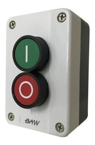 Pulsadores Verde 1 Na + Rojo 1 Nc En Caja Plastica Baw