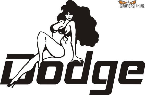 Calcomanía Dodge 03 - 30 X 20 Cm Graficastuning