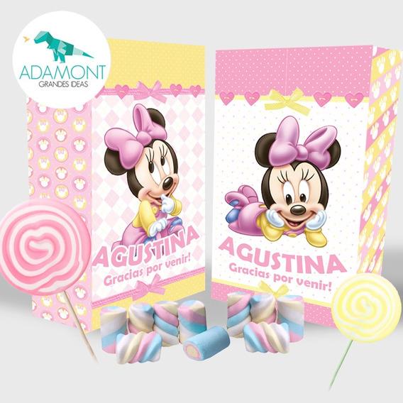 Bolsita Golosinera Personalizada Souvenir Minnie Mickey X 10
