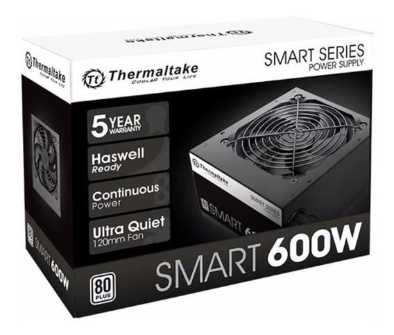 Fonta Gamer Thermaltake 600w Reais 80 Plus Com Nf-e