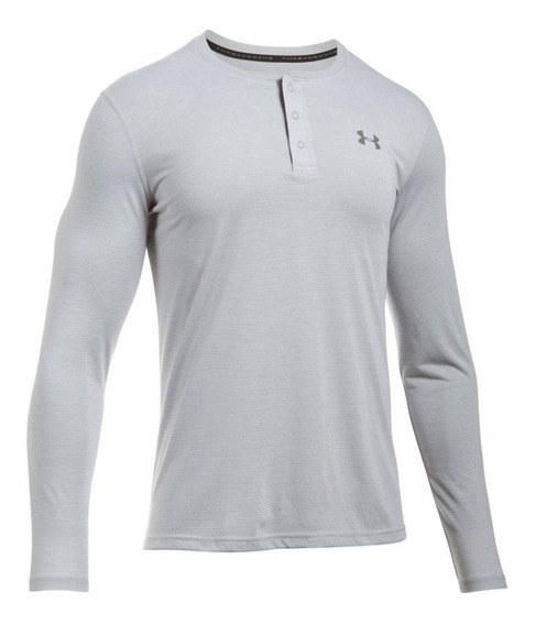 Playera Under Armour Manga Larga Cuello Redondo Con Botones