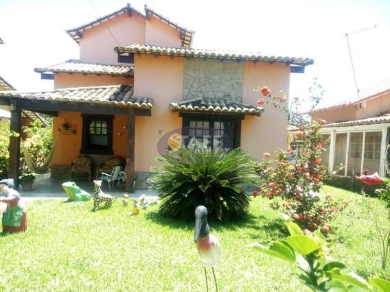 Bela Casa De 3 Quartos Sendo 1 Suite Dentro De Condomínio Lado Praia Em Unamar -cabo Frio!! - Ca1106