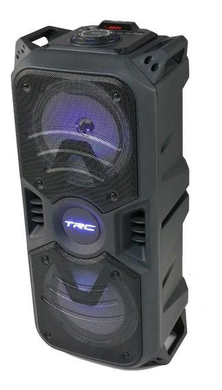 Caixa De Som Portátil Trc 334 Bluetooth 150w Amplificada Led