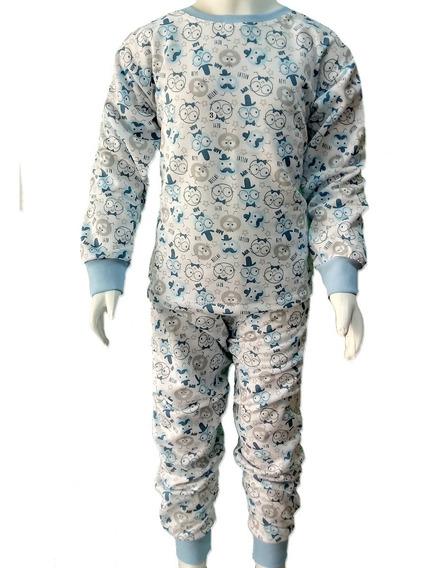 Combo Com 3 Pijamas Infantil Flanelado 2/3/4/6 Menino