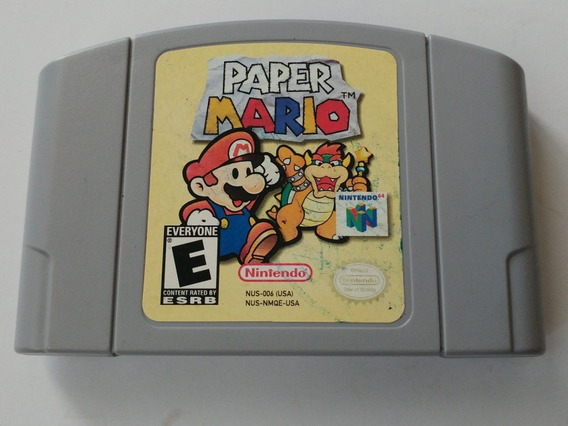 N-64: Paper Mario 64 Rpg Original Americano!! Raríssimo!!