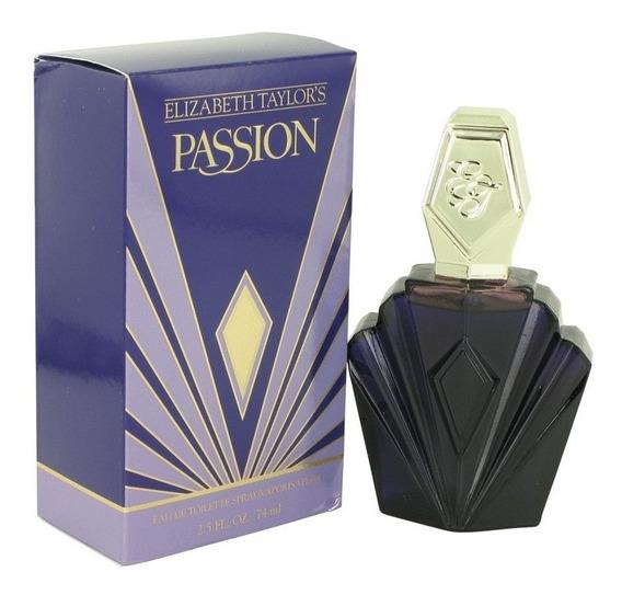 Perfume Elizabeth Taylor Passion Feminino 74ml Edt Original