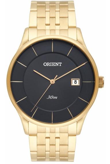 Relógio Orient Masculino Slim Mgss1127 G1kx Dourado Preto