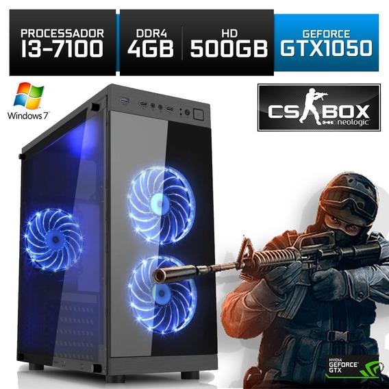 Pc Gamer Neologic Cs Box Nli7020 I3 4gb (gtx 1050) 500gb W7