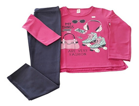 Kit 3 Conjuntos De Roupas Infantil Moda Feminina Compre Já