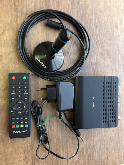 Kit Conversor Tv Digital (conversor + Antena) - Baixou!!!