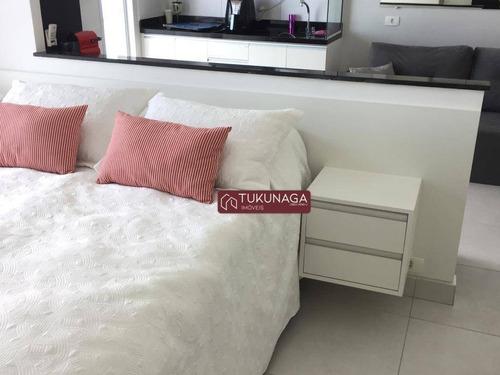 Studio Com 1 Dormitório Para Alugar, 36 M² Por R$ 1.900,00/mês - Vila Augusta - Guarulhos/sp - St0099