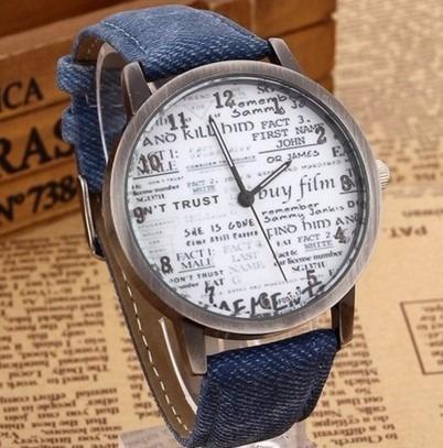 Relógio De Couro Feminino Vintage Retro Quartzo