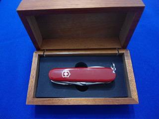 Canivete Victorinox Swisschamp Usado Revisado Caixa Mogno Lx