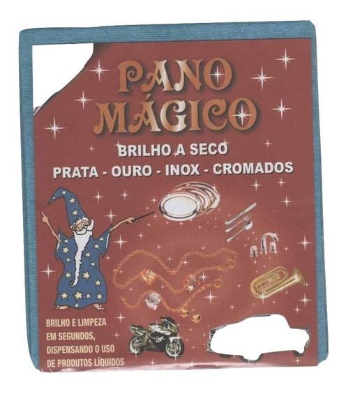 Flanela Pano Magico G Limpa Ouro Prata Metal - 4 Flanelas Gr