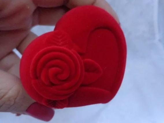 20 Estojos Caixa De Veludo Coração P/anel,pulseira,corrente