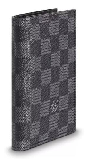 Porta Passaporte Louis Vuitton Damier Graphite Em Couro Top