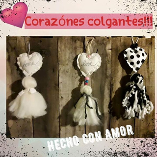 Corazones Colgantes Perfumeros Con Borlas De Vellon