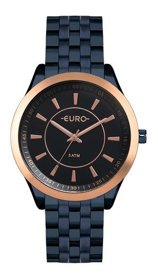 Relogio Euro Feminino Slim Eu2035yox/4a Azul Rose Oferta