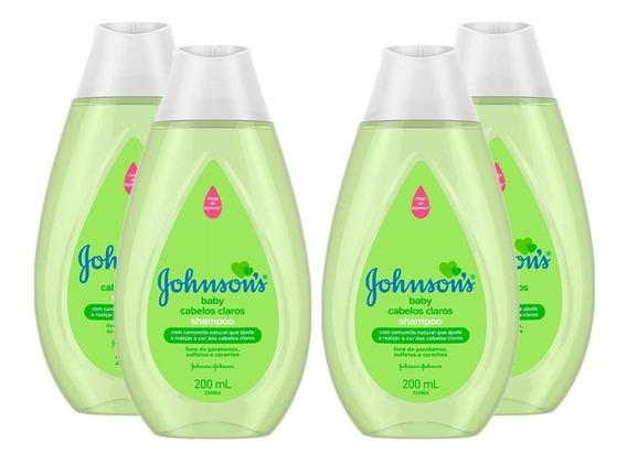Kit Shampoo Johnsons Baby Cabelos Claros 200ml C/4 Unidades