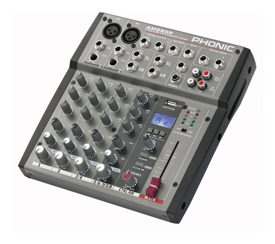 Consola Phonic Am220p 6 Canales