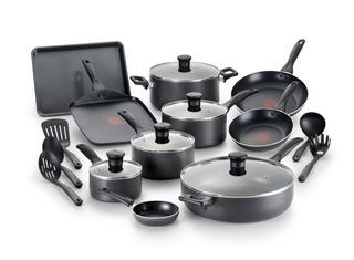 T-fal Bateria De Cocina 20 Piezas Termo Spot Negro
