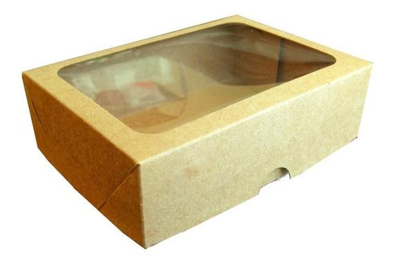 Caixa Presente Visor C/ 50 Unidades 14x10x4,5 V100 - Kraft
