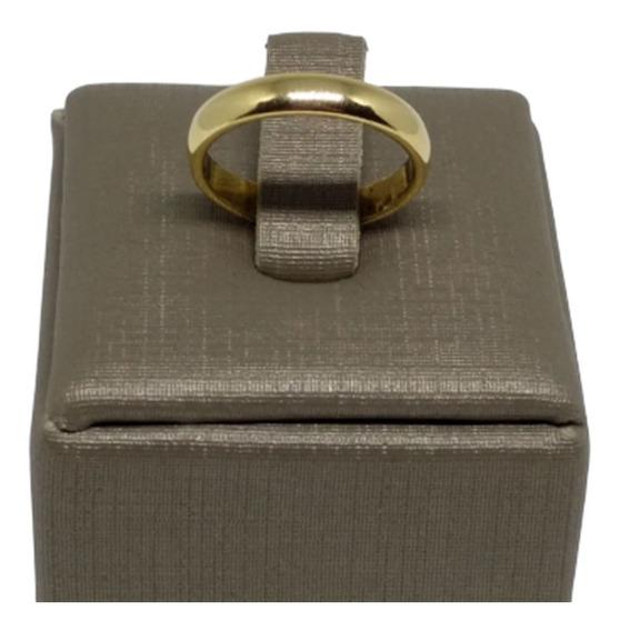 Anel Aliança Noivado Folheada Ouro 18k Lisa Unidade C812