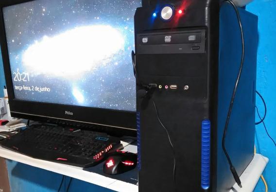 Computador Msi Com 4gb Ram 3.0ghz Completo + 5 Brinde