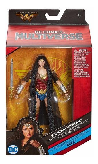 Dc Multiverse Wonder Woman Con Capa Baf Ares
