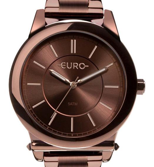 Relógio Euro Feminino Chocolate Eu2036ymr/4m C/ Nf-e