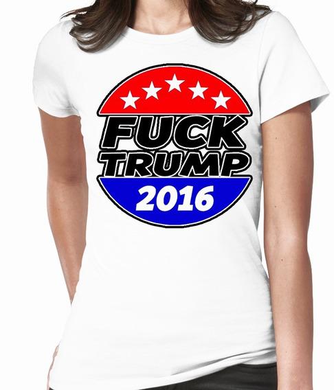 Blusas Cleen Alexer Trump Comica Fuck Trump Mod 6